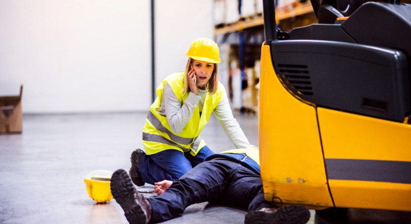 Worker injured in accident